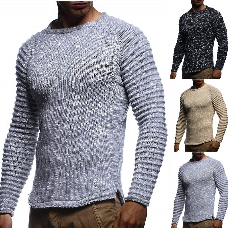 ZOGAA Knitted Shawl Turtleneck Sweater Pullover Winter Streetwear Long Sleeve Man's Sweaters Distressed Chirstmas Men Sweather