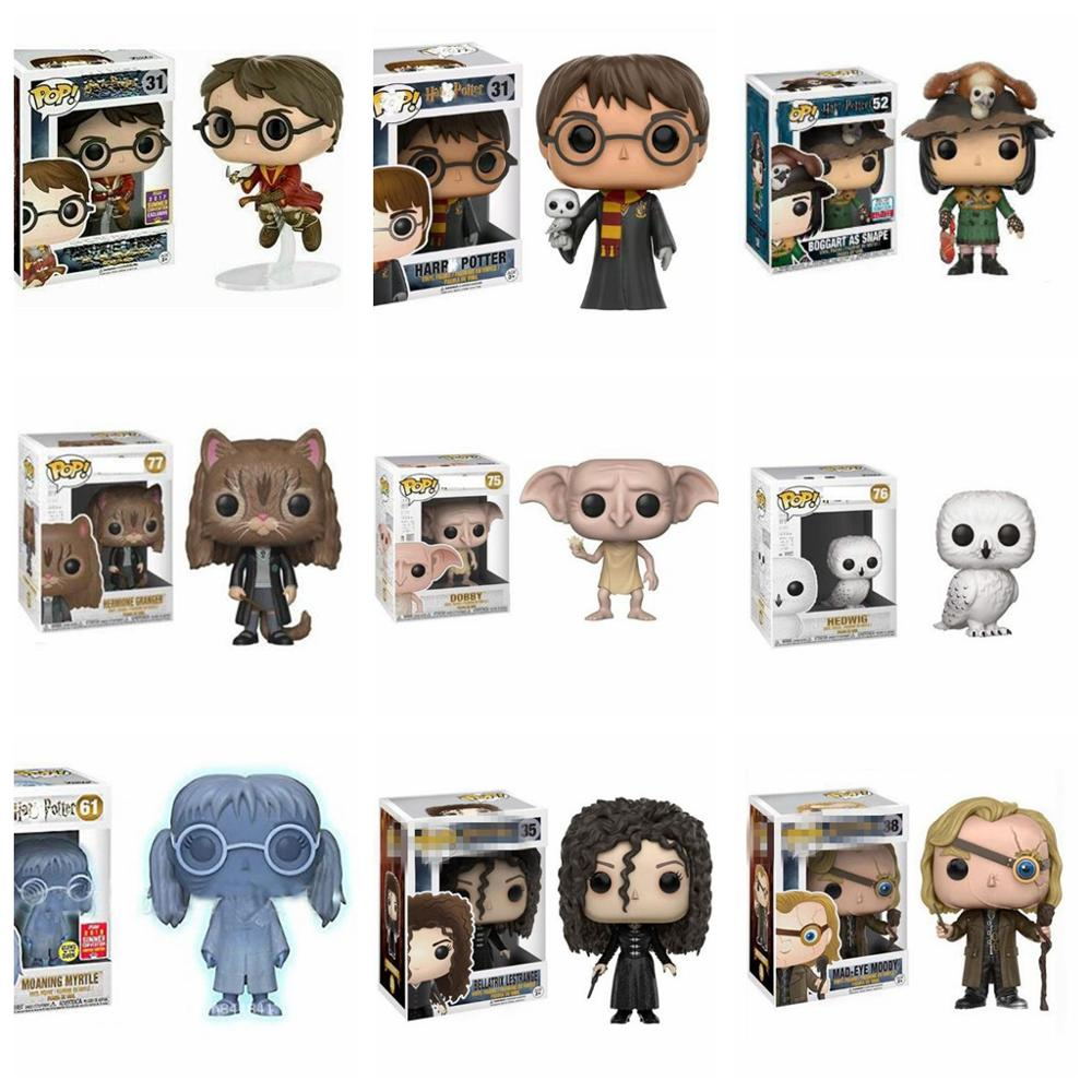 POP Harri Potter Hedwig  Sirius Black Dobby Snape Voldemort Luna RON Hermione Action Toy Figures Collection Model Toy Kids Gifts