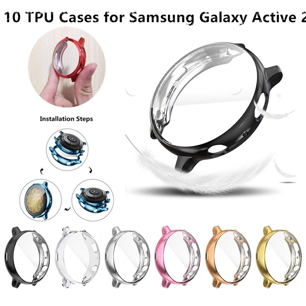 New 10 PC Soft TPU For Samsung Galaxy Watch Active 2 40MM 44MM Screen Protector Cover  Watch Shockproof Accessories