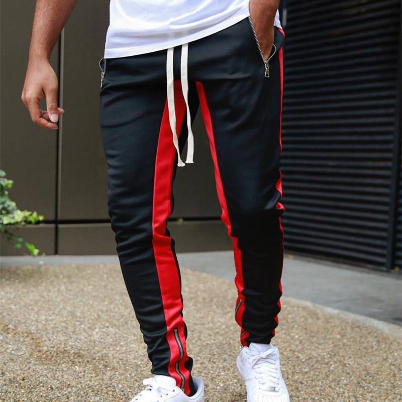 Spring Autumn New Mens Joggers Casual Pants Street hip-hop fashion slim men's trousers Drawstring elastic waist zipper pants