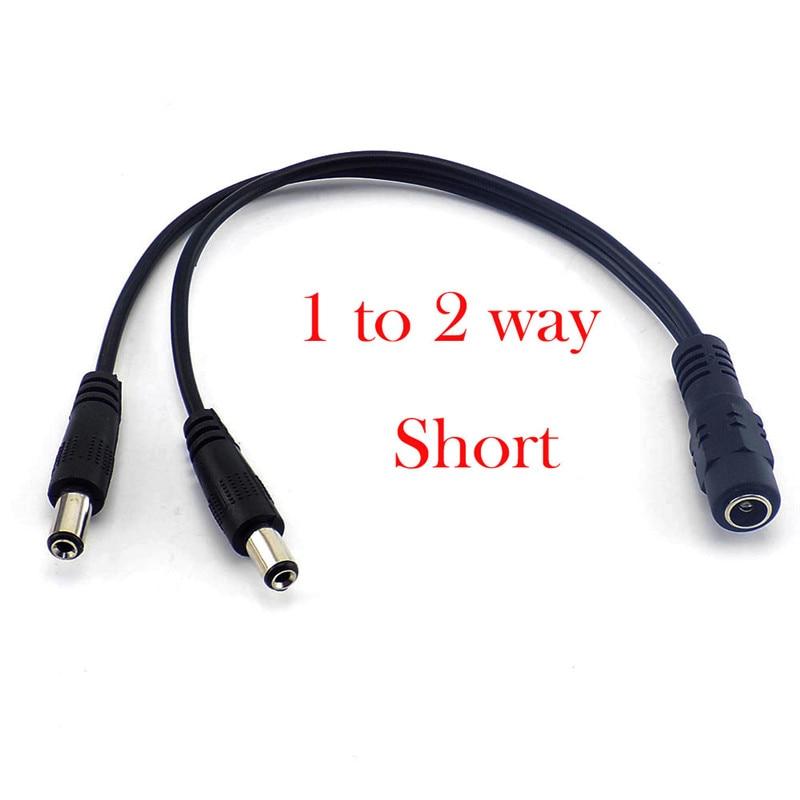 Image 3 - Cable divisor de 1 hembra a 2 macho 2,1*5,5 Mm divisor de energía Dc Cable 12V para cámara de vigilancia Cctv A7Transmisión y cables   -