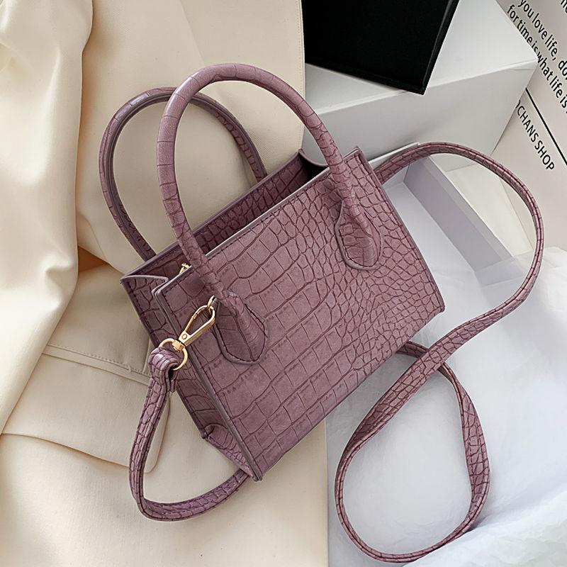 2020 Crocodile Pattern PU Leather Crossbody Bags For Women Chain  Female Shoulder Handbags Mini Purses Travel Cross Body Bag