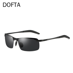 Image 3 - Doftaフォトクロミックサングラス男性偏光変色太陽男性リムレス正方形車を駆動するためのサングラスシェード