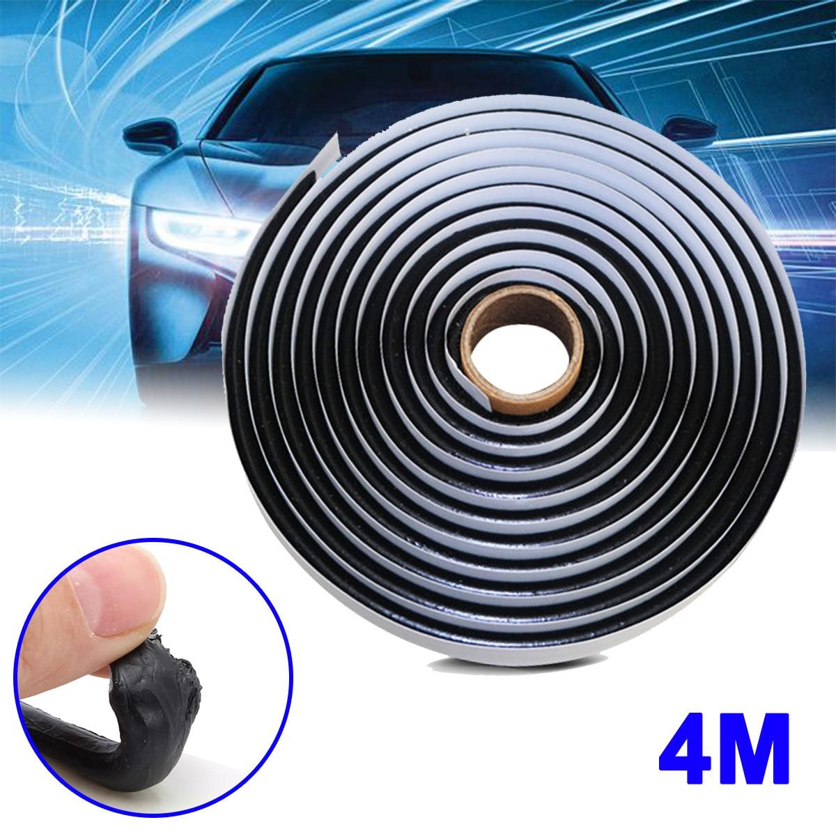 4 м черный бутилкаучуковый клей герметик для автомобильных фар грузовиков светодиодная Модифицированная Резиновая лента