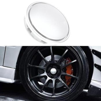 4PCS 56MM Silver Chrome Car Wheel Center Hub Caps Badge Emblem Decal Wheel Rim Dust-proof Cover for 56mm Car Logo Sticker Badge image