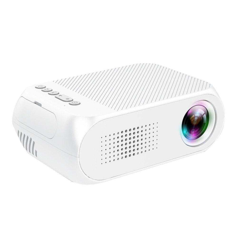 Yg320 blanc Mini projecteur à LED portable Usb Hdmi Home cinéma projecteur pour téléphone portable Home cinéma pour prise britannique