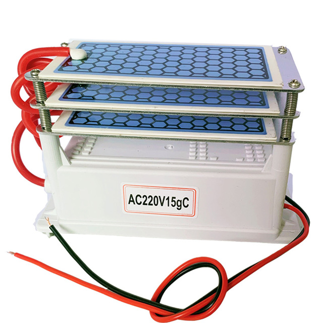 15g אוזון אוויר מטהר Ozonizer אוויר מפיג ריח מחולל אוזון Ionizer עיקור מסנן קוטל חידקים חיטוי ריח נקי