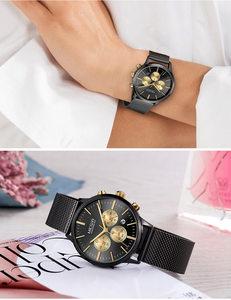 Image 4 - MEGIR Women Watch Waterproof Top Brand Luxury Chronograph Ladies Wristwatch Stainless Steel Classic Bracelet Female Clock 2011