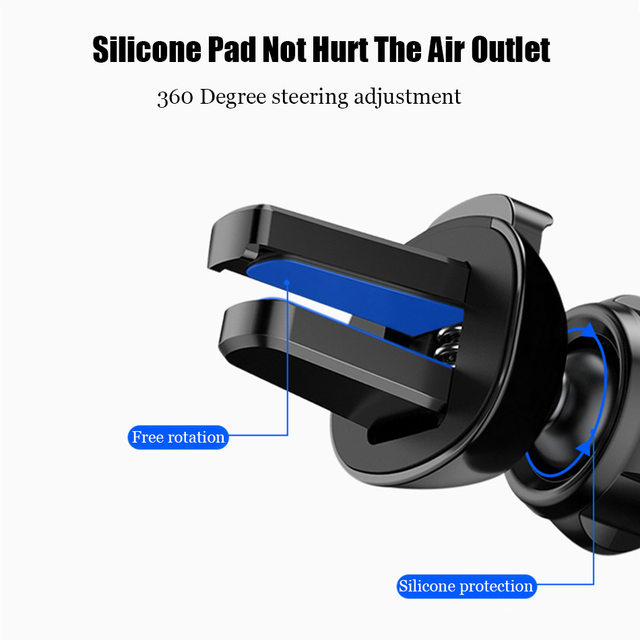 Universal Gravity Car phone Holder Car Air Vent Mount Phone Holder For iPhone 8 XS Max Samsung Xiaomi Mobile Phone Holder Stand 3