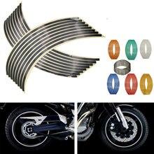 Autocollants réfléchissants universels pour jantes de Moto, 16 pièces, autocollants pour Yamaha fz 1 09 6 fzr 400 FZ1 FZ6 FAZER