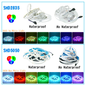 LED Strip Light Waterproof 5M 10M 15M RGB Controller 12V LED 4