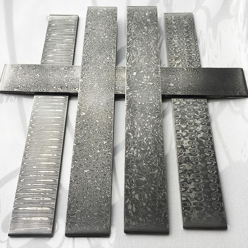1piece VG10 Sandwich Damascus Steel For DIY Exquisite Knife Making Wave Pattern Steel Knife Blade Blank Has Been Heat Treatment
