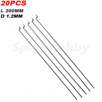 20PCS Sparkhobby Z type Steering Gear Lever Diameter 1.2mm Length 20cm Stainless Steel Pull Rod Servo Lever for RC Airplane part|Parts & Accessories|   -