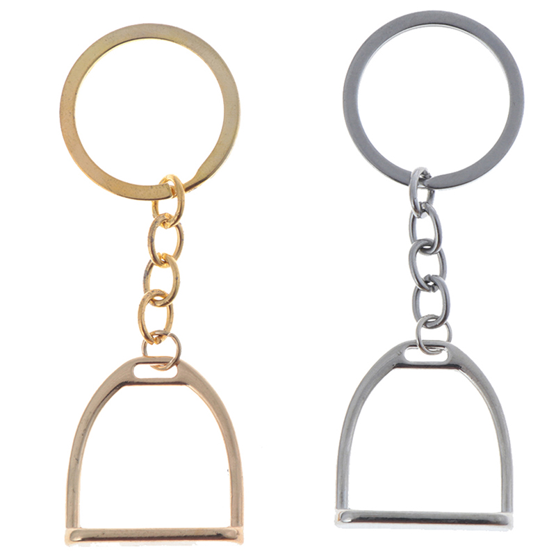 1Pcs Simple Elegant Design Western Stirrup Keychain Key Ring Hanger Tool For Men Women Bag Decoration Equestrian Equine Horse|Horse Care Products|   - AliExpress