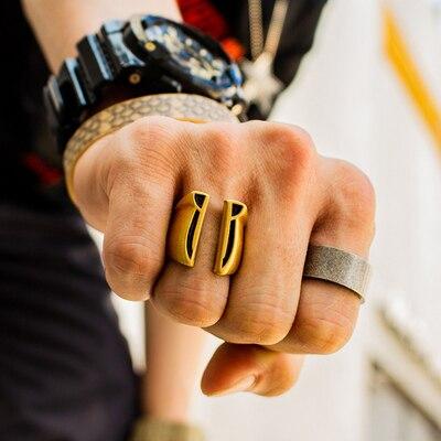 Onlysda 316L acier inoxydable hommes gothique Biker Punk Vintage anneau spartiate masque casque nordique païen Viking anneaux creux OSR218
