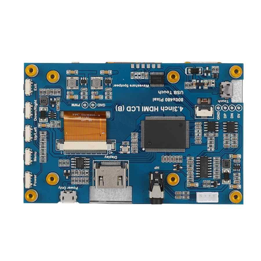 عالمي لراسبيري Pi 4.3 بوصة 800x480 LCD بالسعة ل 3B + 2B + 4B IPS شاشة تعمل باللمس جديد