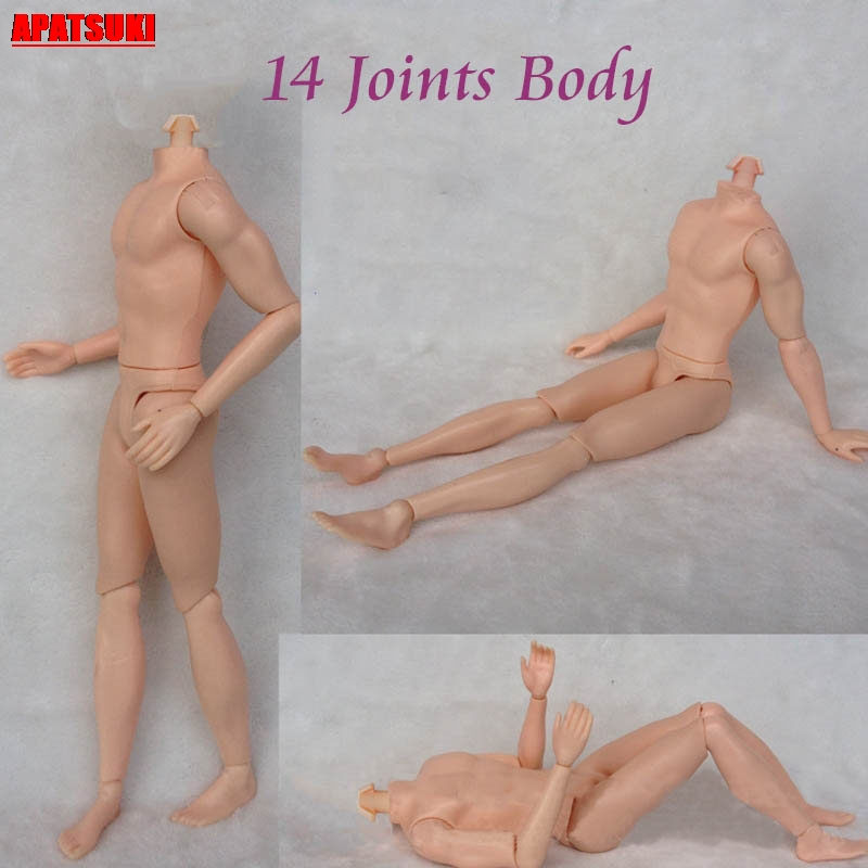 Moveable Naked Body MAN Doll Jointed Boy Boyfriend Ken Male Toy Learning Nude