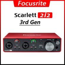 Focusrite scarlett 2i2 (3rd gen) профессиональный аудио Интерфейс