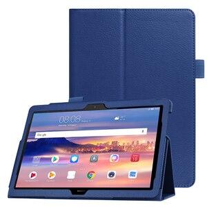 Capa inteligente para huawei mediapad t5 10, capa flip de couro pu para tablet huawei mediapad t5 10.1