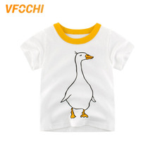 VFOCHI 2019 New Boys T Shirt White Cartoon Goose Print Kids T Shirt 2-10Y Teenager Boy Tee Tops Cute Boy Clothes Boy T Shirts цена и фото