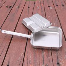 Набор посуды для походов на открытом воздухе, кемпинга, кемпинга, кастрюль, посуда для приготовления пищи, набор для пикника, нержавеющая сталь, ручка, горшок, столовая посуда, Backpacing