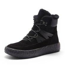 Brand Snow Boots Men Winter Warm Waterproof Cotton Shoes Hig