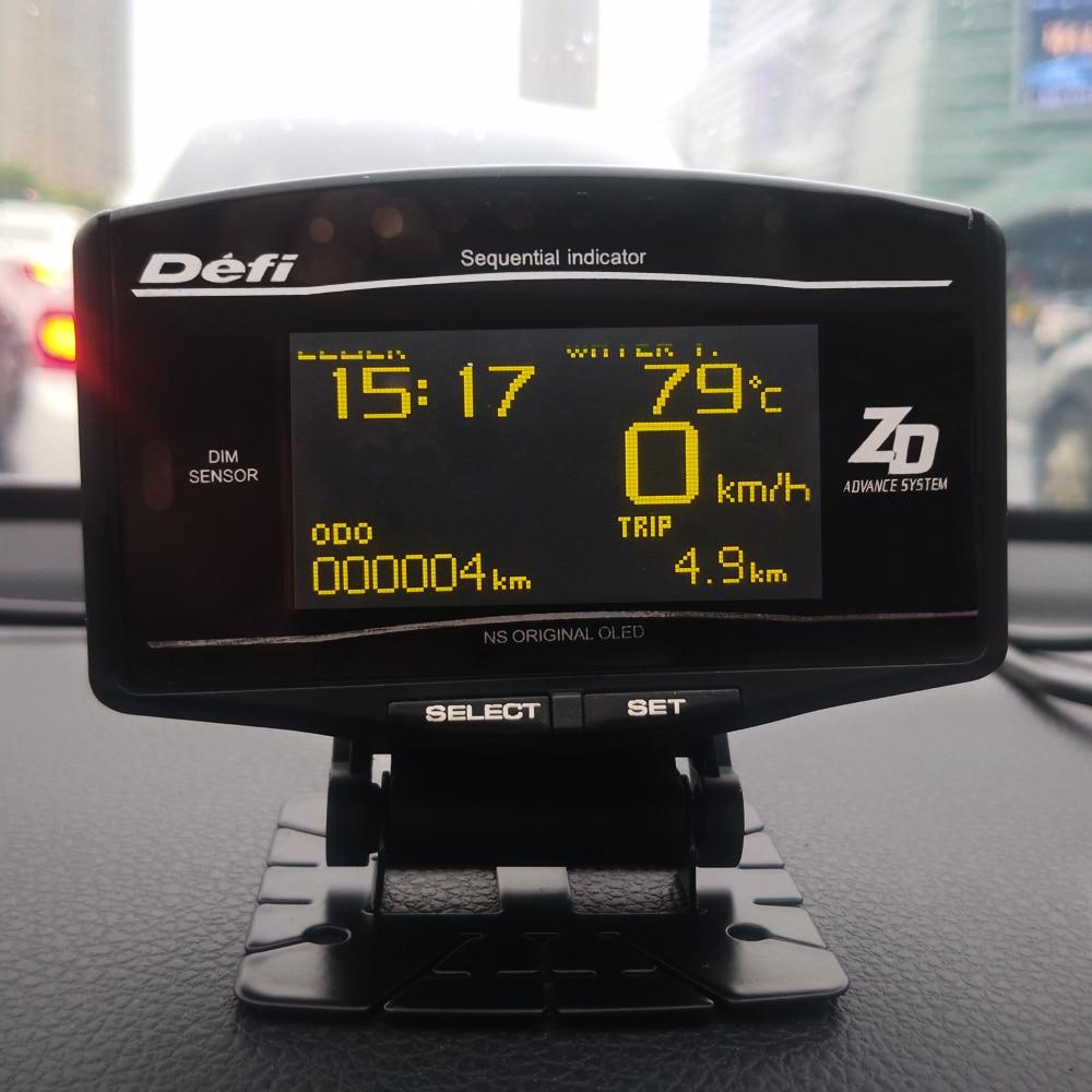 OBD2 Hud Head Up Display OBD Ii Digital Car6 In 1 Tacho WaterTemp Speed ODO Clock Trip Defi Meter Gauge