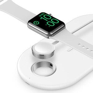 Image 4 - Suntaiho cargador inalámbrico rápido Qi para Iphone XS, XR, X, 8, 11Pro Max, estación de carga inalámbrica para Apple Airpods Watch 5, 4, 3, 2, 1, 10W