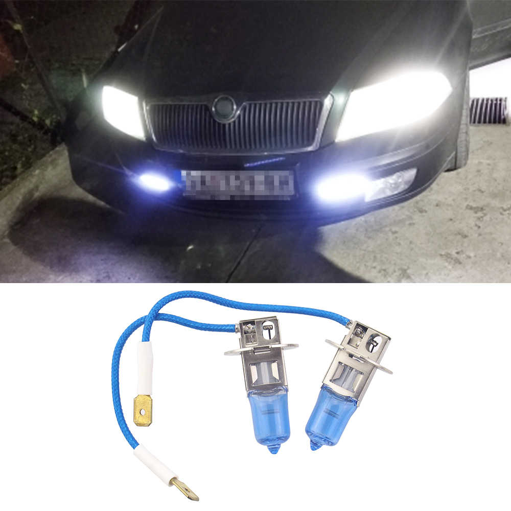 2 個車のヘッドライトH1 H4 H7 H8/H9/H11 9005 9006 55 ワットハロゲンヘッドライト光bubls 12v高/低hi/loヘッドランプ