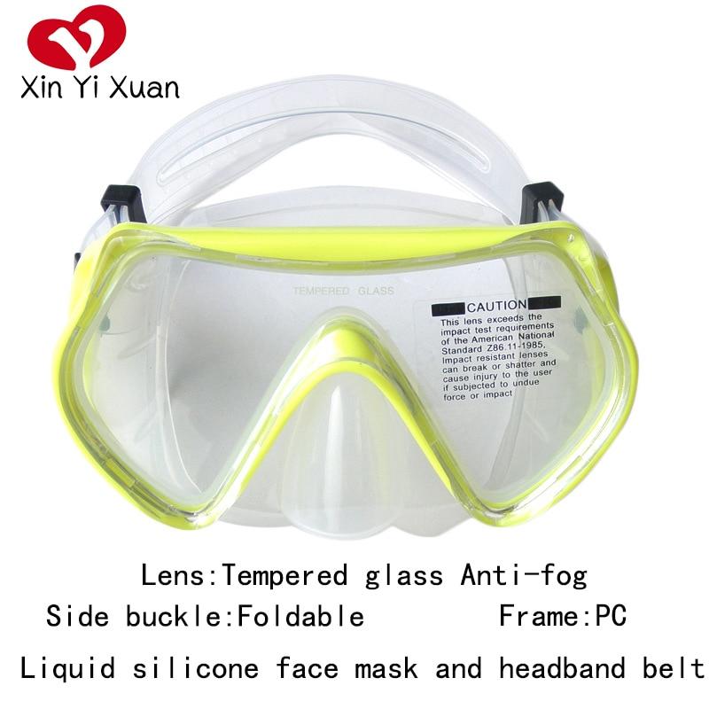 Подводная маска для дайвинга, для плавания, для дайвинга, для подводного плавания, противотуманная трубка для подводного плавания, низкий