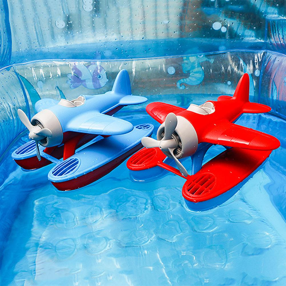 Sea Plane Floating Model Baby Bath Toys Kids Pool Swimming Bathtub Funny BathToys For Children Toddle Play Water Game Gifts