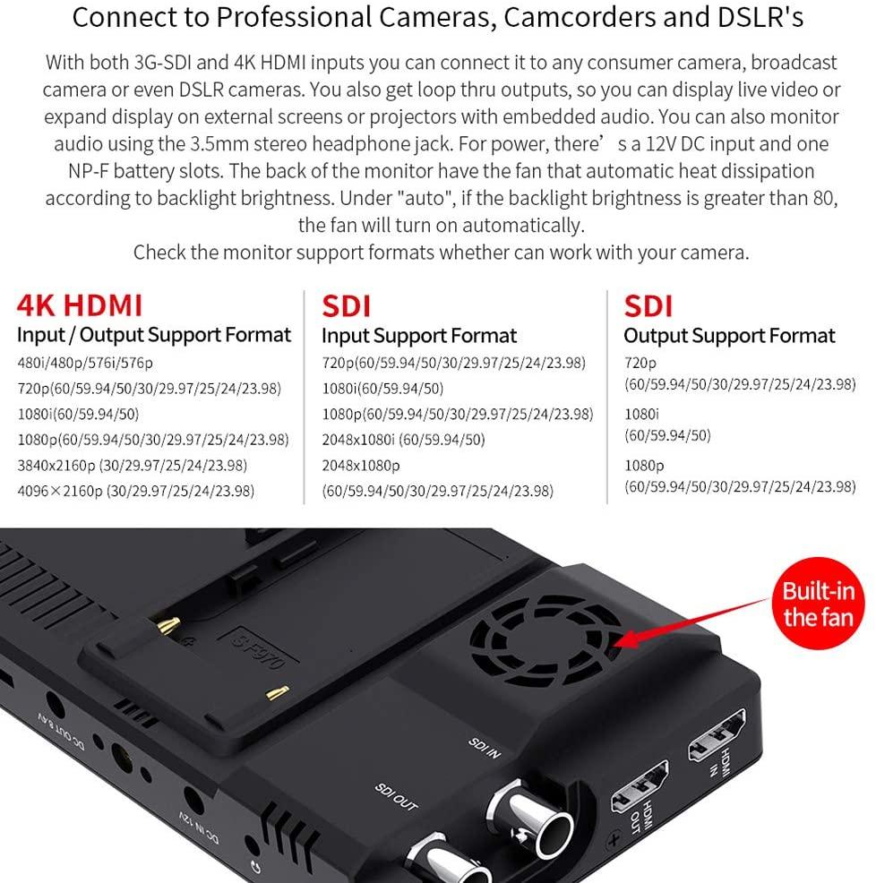 FEELWORLD LUT6S 6-inčni terenski monitor kamere 2600nits HDR / 3D - Kamera i foto - Foto 5