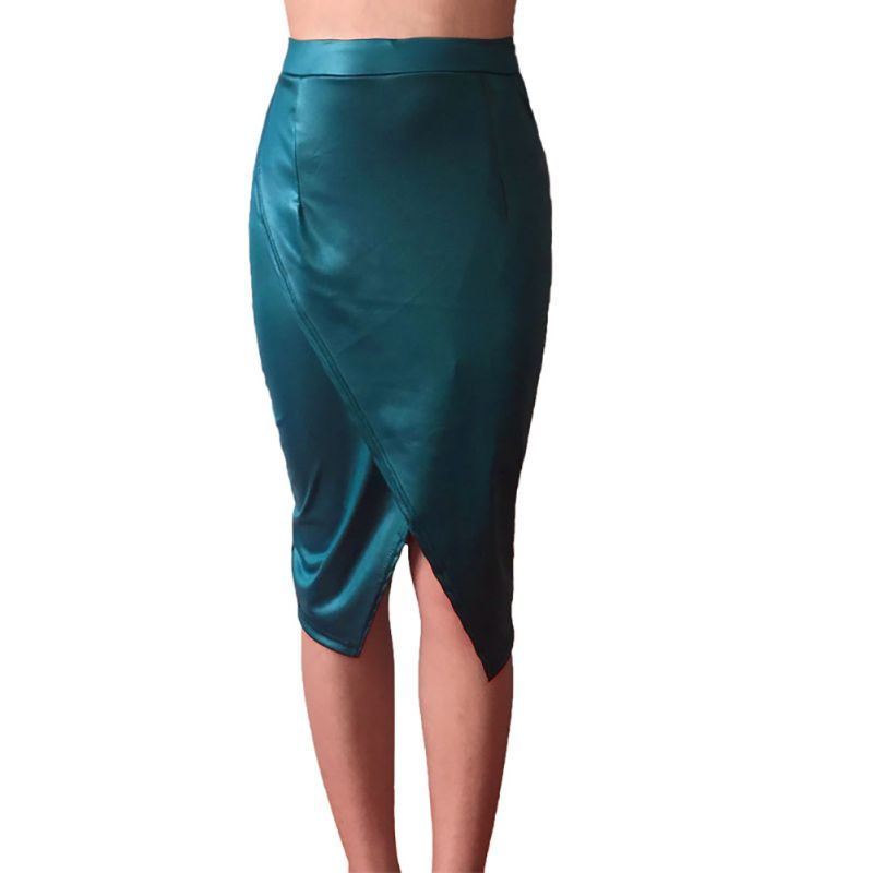 Sexy Women Pencil Skirt Sexy Package Hip Split Waist Midi Skirt Summer Skirts