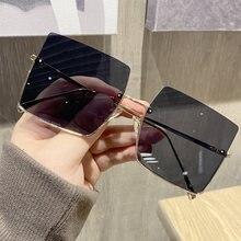 Солнцезащитные очки без оправы для мужчин и женщин квадратные
