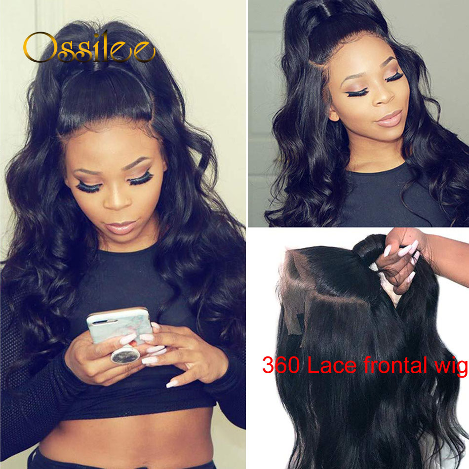 Ossilee Lace Front Wig Body Wave 360 Lace Frontal Wig Brazilian Remy Lace Front Human Hair Wigs 150% Pre Plucked With Baby Hair
