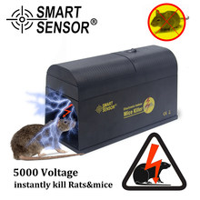 New Electric High Voltage Mouse Rat Trap Mouse Killer Electronic Rodent Mouse Home Use Pest Control Rat Killing Trap