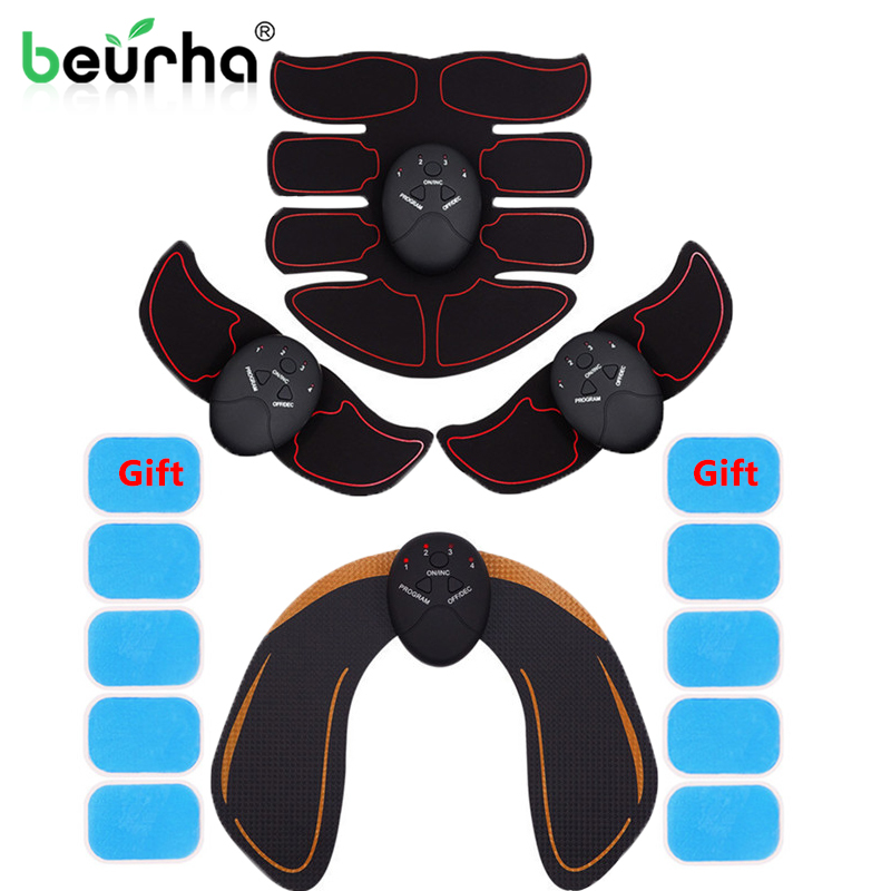 Abdominal Muscle Stimulator Hip Trainer EMS ABS Vibration Fitness Equipment Face Slimming Exerciser Training Gear Toner