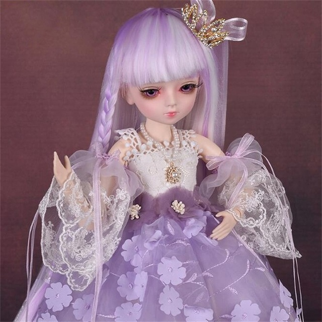 18 Movable Joints BJD Doll 1/4 With Full Outfits Wigs Shoes official Makeup Ball Jointed Dolls collection kids toys Christmas gi 4