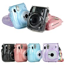 Bag 11-Accessories Instant-Camera Cover Protective-Case Fujifilm for Mini Crystal Transparent