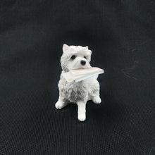 JJM West Highland White Terrier koperta pies zwierzę rysunek kolekcjonerski Model zwierzęcia lalka EducationalToy dla dzieci dorośli dzieci prezent tanie tanio Dla dorosłych Length 7 cm Width 5 cm Height 7 cm Resin