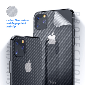 Image 5 - Back Film For Apple Iphone 11 pro Back Cover Matte Carbon Fiber Sticker For Iphone 11 Pro Max Iphone11 Back Screen Protector