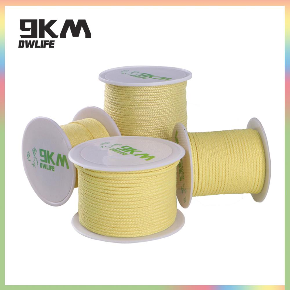 30M-90M Kevlar Kite Line For Fishing Assist Cord Adults Fly A Kite Camping Hiking Accessories Cut-resistance 100lbs-2000lbs