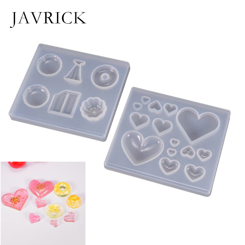 UV Resin Crafts Making DIY Crystal Epoxy Mold Candy Heart-shaped Patch Decoration Silicone Molds Jewelry Making