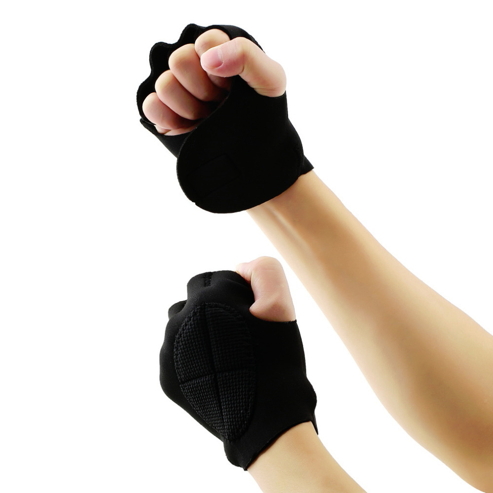 1Pair Men Women Limitless Black Sport Weight Lifting Fitness Gloves Gym Weight Lifting Fitness Exercise Training Gym Gloves