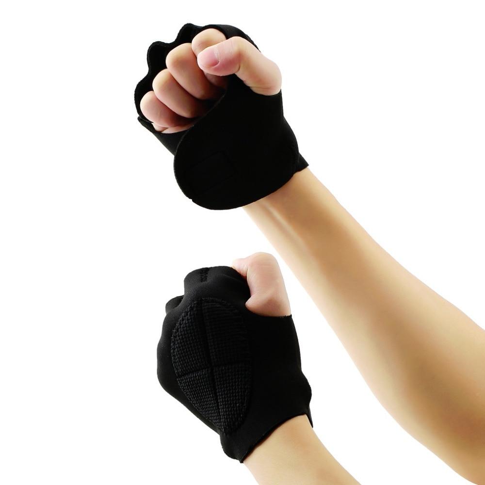 1Pair Men Women Limitless Black Sport Weight Lifting Fitness Gloves Gym Weight Lifting Fitness Exercise Training Gym Gloves