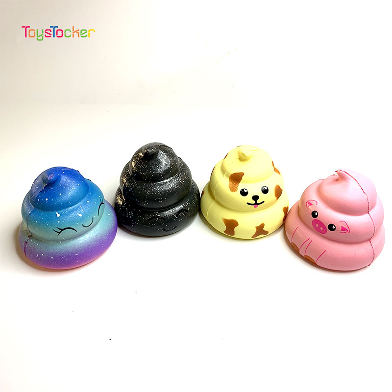 Colourful Feces Modeling Squishy Slow Rising Soft Squeeze Toy Phone Strap Scented Relieve Stress Funny Kid Xmas Gift