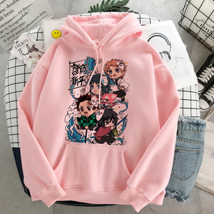 Anime Demon Slayer Fall Pullover Sweatshirt Women Kamado Tanjirou Costume Hoodies Harajuku Kimetsu No Yaiba Sudaderas Mujer 2020
