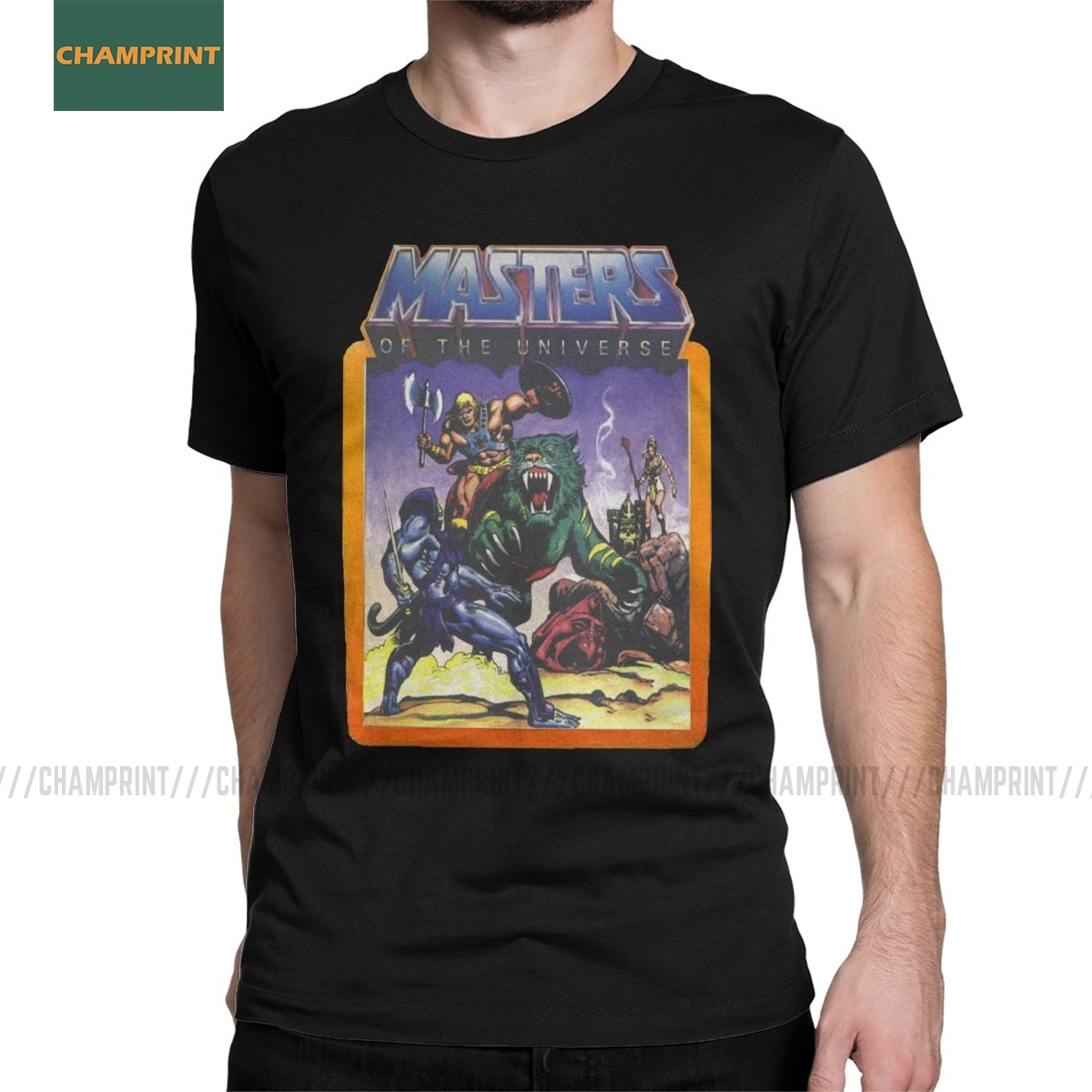 He-Man ustaları evren savaş ile Skeletor T Shirt erkek pamuklu tişört Skeletor 80s She-ra Beast tee kısa kollu üstleri