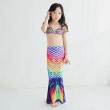 Fantasy Children Tails Swimming Party Cosplay Costumes Halloween Little  Girls Swimsuit Bikini Set Bathing Suit Lovely Swimwear