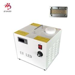 90W drukarka epson zaktualizowane platforma uv drukarki UVLED chłodzenia wodnego system utwardzania 1 zestaw UVLED suszenia lampa alarm temperatury systemu w Światła UV do utwardzania żelu od Lampy i oświetlenie na